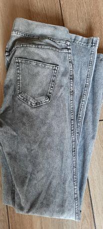 Legginsy jeansowe hm 146 10/11 lat szare