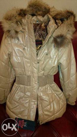 Куртка из кожи для девочек