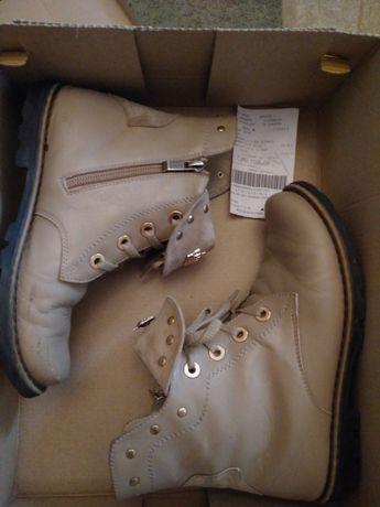 Продам ботинки женские кожа бежевые 35 размер