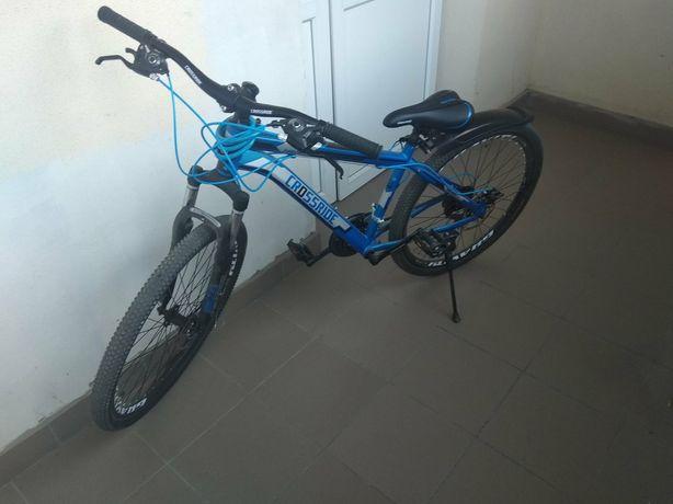 """Горный велосипед Crossride HILAND R26"""" с дисковыми тормозами (Синий)"""