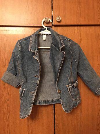 Джинсовая курточка пиджак для девочки 3-5 лет