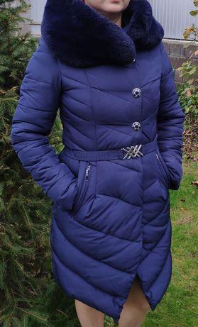 Женский зимний пуховик  пальто куртка размер M или 44