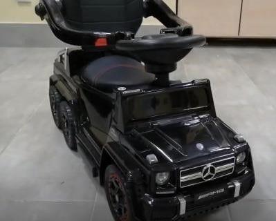 Детский толокар-электромобиль на аккумуляторе 2в1
