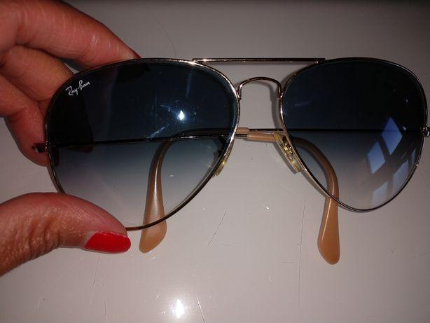 Óculos Ray-ban Aviador originais azul degradê