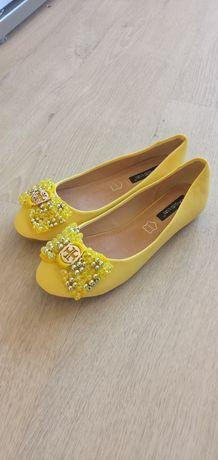 Baleriny żółte roz. 37