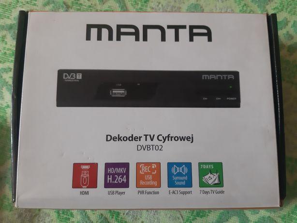 Dekoder DVB-T Manta uszkodzony