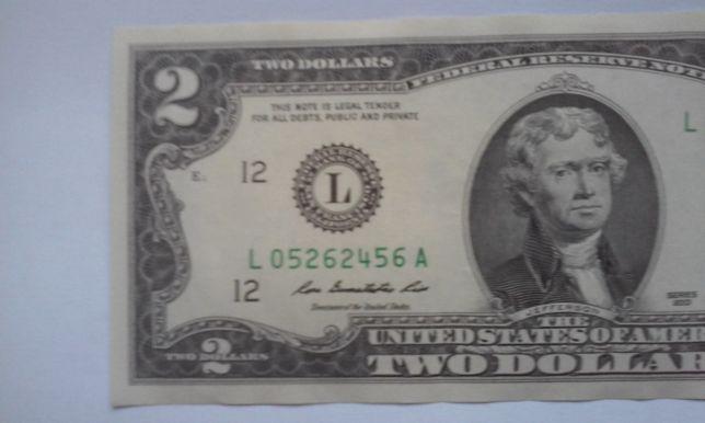 2 Доллара США 2013 года uncirclated купюры никогда не были в обращении