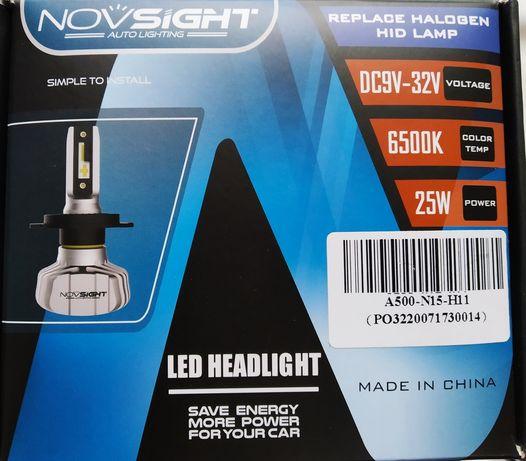 Komplet dwóch żarówek LED H11 canbus zamiennik