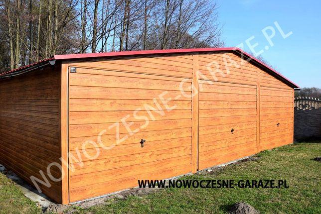 Garaż blaszany drewnopodobny imitacja drewna nowość