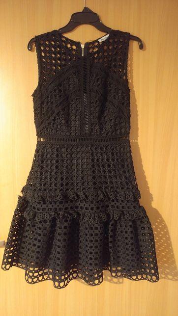 Sukienka ażurowa s jak nowa