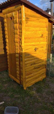 Toaleta drewniana budowlana