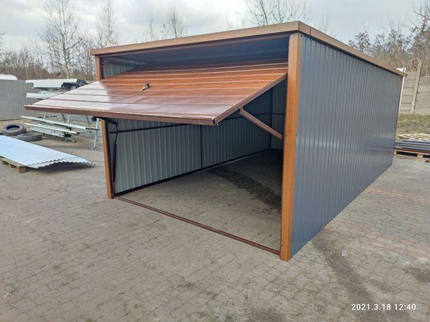 4x6 blaszak garaż kolor orzech grafit brama uchylna drewnopodobny 3x5