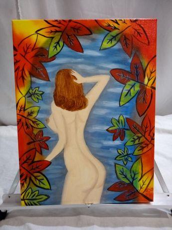 Картина ,, Тёплая осень ,, 40x30 масло , холст на подрамнике .