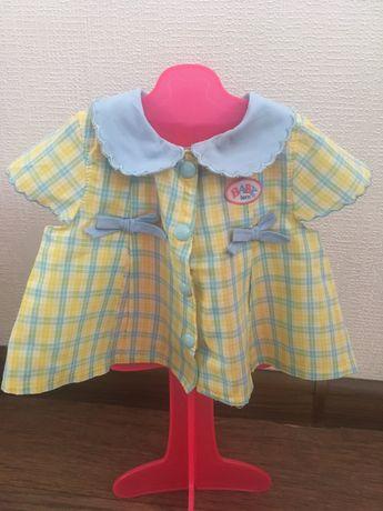 Baby born одежда платье