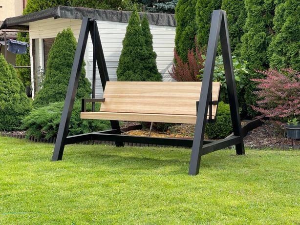 Huśtawka ogrodowa nowoczesna industrialna LOFT metalowa