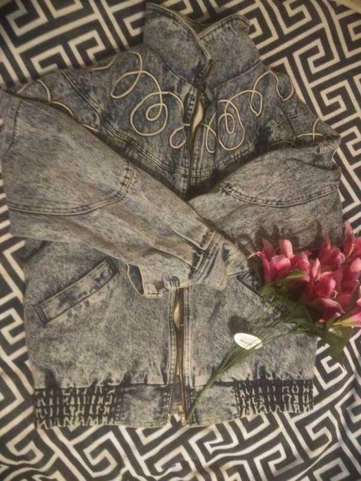 Wyjątkowa kurtka jeansowa, gruby jeans XXL oversize, vintage Warszawa - image 1