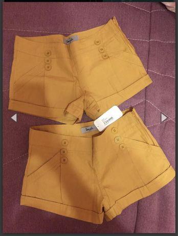 Новые коричневые шорты с биркой размер s отдам