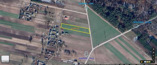 Działka pod budowę - Psary  (powiat Opoczno)