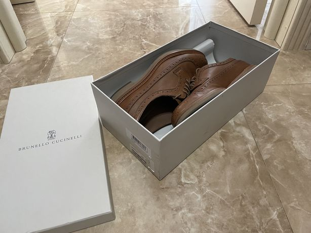 Brunello Cucinelli мужские туфли-броги. Оригинал!Италия! 40 р. Торг!