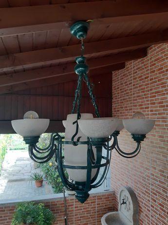 Candeeiro teto cor verde
