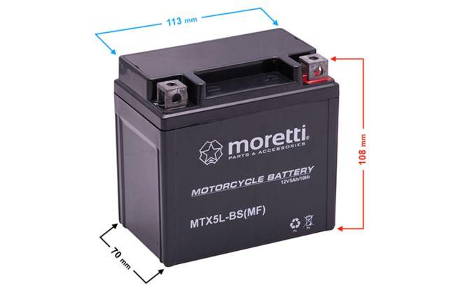 Akumulator Motocyklowy Żelowy MTX5L-BS 12V 5Ah