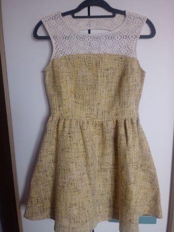 Elegancka sukienka miodowa rozmiar 38