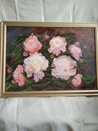 """Картина """"пионы розовые"""""""