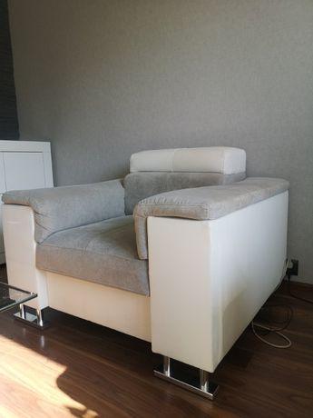Fotel Boston tkanina latwozmywalna jasny szary