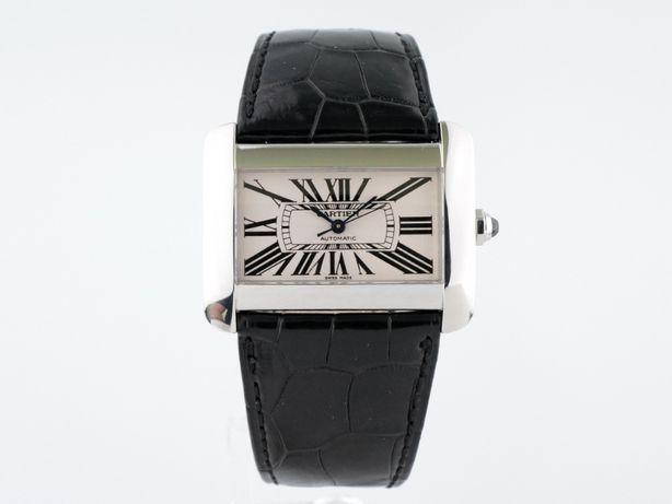 Мужские бу часы Cartier Tank Divan 38 х 30 мм