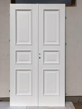 Drzwi wewnętrzne białe RETRO prowansalskie DWUSKRZYDŁOWE