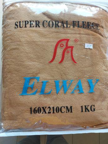 Плед-простынь Elway Кофе (микрофибра) 160х210 см Бежевый