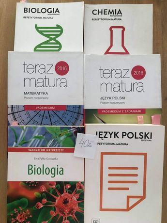 Repetytoria biologia, chemia, matematyka, język polski.