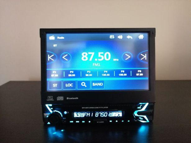 SKLEP! Radio dotykowe 1din USB Microsd aux bluetooth wysuwane Mirrorli