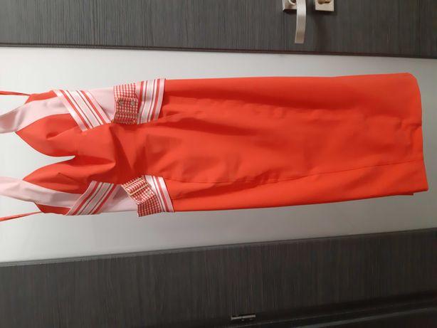 Elisabetta Franchi sukienka wycięcie na plecach M wesele komunia