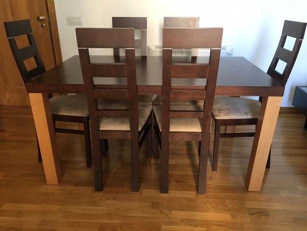 Mesa de Jantar cor wengue/faia