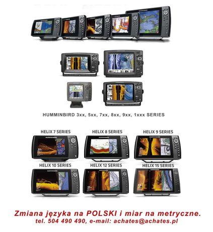 Humminbird Serwis Echosond –język polski.