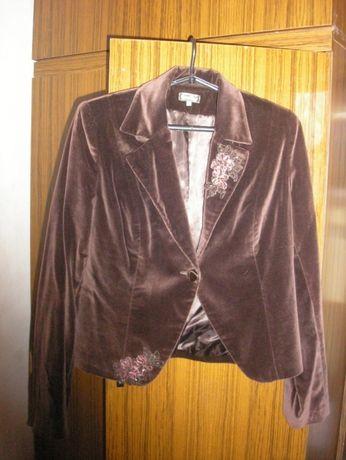 Женский пиджак, велюровый, размер 48
