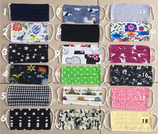 Maseczki ochronne ze 100% bawełny - MIX kolorów - Promocja !!!