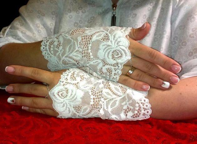 Продам свадебные перчатки без пальцев (мите́нки) Новые