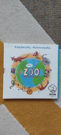 Dzień w zoo kolorowanka harmonijka