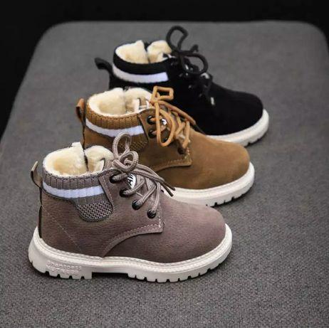 Ботинки детские Детские зимние ботинки с мехом Пинетки Детская обувь