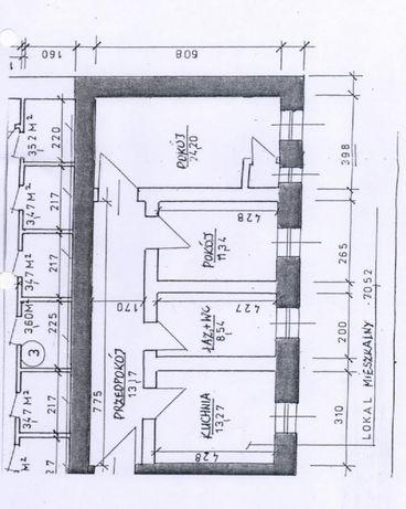 Nieruchomość mieszkanie lokal 70m2 do generalnego remontu