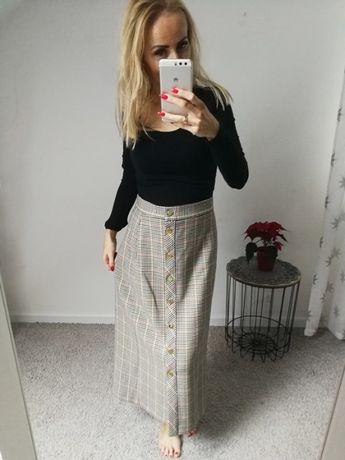 Nowa spódnica midi w krate ZARA rozmiar S
