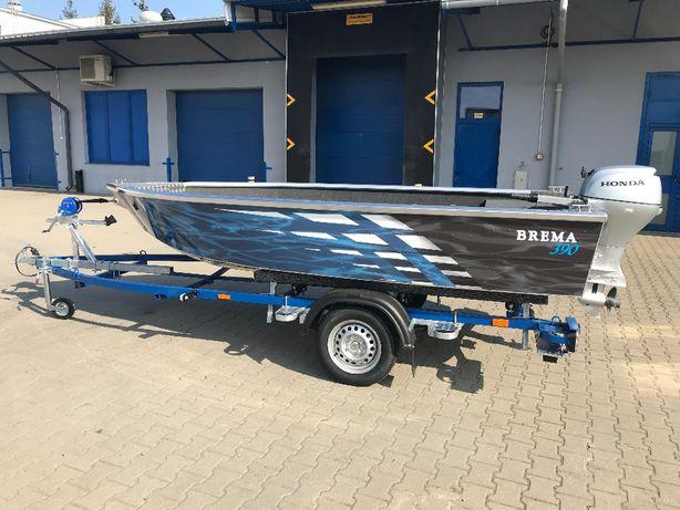 Łódź aluminiowa, łódka wędkarska, rekreacyjna Brema 390 V