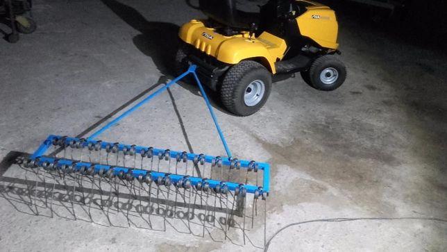 grabie brony wertykulator areator do traktorek kosiarka