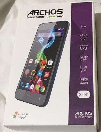 Французский смартфон ARCHOS 50c Platinum практически новый
