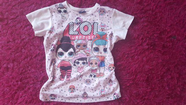 Koszulka T-shirt Bawełna Dziewczęcy Disney L.O.L.Surprise 128cm 8/9 la