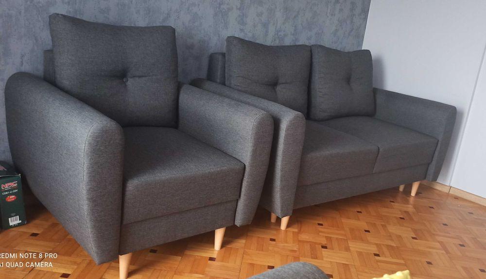 Skandynawska sofa rozkładana i fotel MANSTAD Kielce - image 1