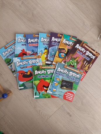 10szt książek Angry Birds, seria ptasie opowieści bardzo dobry stan
