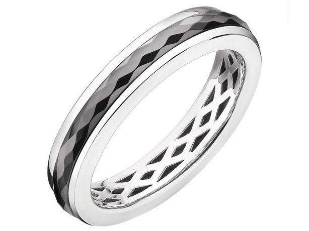 Pierścionek srebrny z ceramika